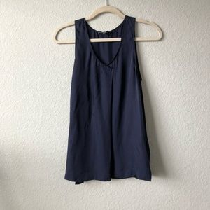 Vince Navy Tank Top Size Small
